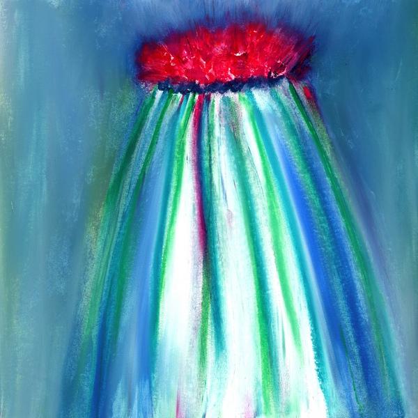 4-18 fleur volcan fuxia-verts 21-21 cadre 30-30