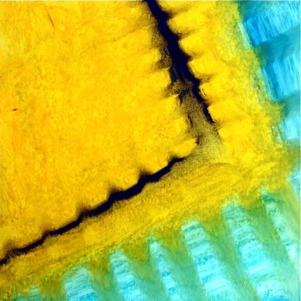 4-21 jaune turquoise reflets 20-20 cadre-30-30